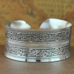 Bohemian Flower Engraving Open Bangle Carved Cuff Bracelet Women Jewelry Gift