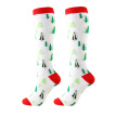 sale Christmas Cap Tree Deer Striped Printed Compression Socks Knee High/Long Polyester Nylon Hosiery Footwear Accessories