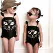 1-6T Summer Hot Sale Baby Girls Swimsuit Infant Kids Siamese Skirts Cat Cute Cartoon Bodysuit Children Newly Fashion Jumpsuit