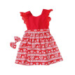 New Infant Children's Party Dress Sisters Installed Two-Piece Suit Lace Joker + Hair Band Christmas Sister Models