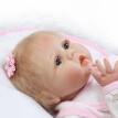 Educational Toy 22in Reborn Baby Rebirth Doll Kids Gift Blond Hair Pink Kitty Diy Toy  B6C6V7U0