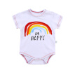Fashion romper  cute cotton soft white baby toddler romper  rainbow candy series one-piece clothes for 0-18M