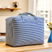 White figure Thai quilt bag moving luggage storage bag clothing finishing tote bag dust bag medium 57L moving bag blue and white stripes