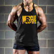 (Toponeto) Men Fitness Muscle Print Sleeveless Bodybuilding Tight-drying Vest Tank Tops