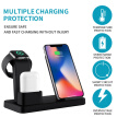3-in-1 Mobile Phone Watch Headphone Chargers Wireless Quick Charging Adapter Pad For Apple Android Cellphone Wristwatch Earbuds