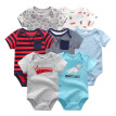 Newest 7PCS Baby Boys Clothes Rompers Baby Girls Clothes Newborn Bodysuits Babywear Cotton 0-12M For Babies Outwear Clothing Sets
