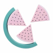 YW_Safe Natural Wooden Watermelon Decoration Crafts With Early Educational Toy Building Blocks Set Wood Ornaments Kids Room Decor