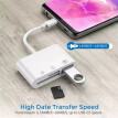 3 in1 Type C to USB 2.0/SD/TF Memory Card Reader OTG HUB Adapter For Macbook-Pro