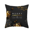 Merry Christmas Happy New Year Pillowcase Decoration Pillow Cover for Home Decoration Cushion Xmas Gift 45*45cm