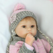 Educational Toy 15in Reborn Baby Rebirth Doll Kids Gift Grey Sweater Baby Doll  P0R1M7D3