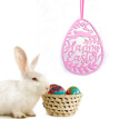 Non-woven Fabrics Letter Egg Ornaments for Wedding Easter Party Hanging Decoration Easter Wall Door Hanging Decoration