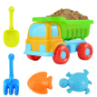 5PCS Beach Toy Sand Toy Beach Game Funny Plastic Bathing Play Sandbox Toy Sand Dredge Sand Set for Children