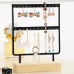 Gobestart Wood Base Metal Jewelry Holder Display Stand Dangle Earrings Hanging  24 Holes