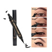 Natural Black Double-headed Eyeliner Pencil With Stamp Seal Maquiagem Waterproof Eye Liner Cosmetics Long Lasting