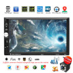 4G WiFi 7 Inch Touch Screen Double 2DIN GPS FM Radio Stereo Car MP5 Player Compatible for Android 7.1