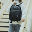 Ninth City V.NINE Backpack Women's College Style Large Capacity Computer Bag 14 Inch Simple Wild Casual Backpack VB9BV33803J Black