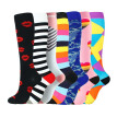Unisex 7pcs/set Compression Socks Kit Knee High/Long Polyester Nylon Sports Hosiery Footwear Accessories