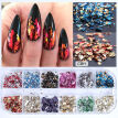 Colorful Irregular Aluminum Foil Paper Nail Art Sticker 3D Glitter DIY Nail Art Decoration Nail Accessory