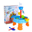 Round Sand Table Game Table Summer Beach Game Toy Sandglass Play Kids Sand 20PCS