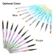 10pcs/set Nail Art Brush Kit Nail Art Tips UV Gel Nail Builder Brush Painting Drawing Pen Brush for Nail Art Design Manicure Tools