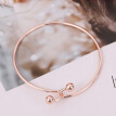 Fashion Gift Double Charm Bracelets Fashion Double Beads Jewelry For Women Adjustable Bracelets Wedding