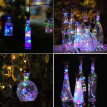 Gobestart 1Pcs Solar Energy Cork Shaped LED Light Starry Light Wine Bottle Lamp Decor