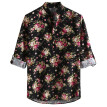 Tailored Men Casual Printing Vintage Slim Casual Long Sleeve Dress Shirt Blouse Tops