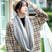 Japanese Autumn And Winter New Solid Color Wool Scarf Men And Women Sweet Long Couple Knitted Bib Student Thick Collar