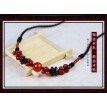 Women necklace Garnet short clavicle chain agate red female jewelry
