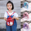Children Girls Rabbit Ear Sequins Backpack Casual Small Kawaii Cartoon Girls Kids School PU Leather Shoulder Bags Bagpacks