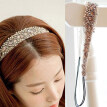 Women's Sweet Lace Faux Pearls Hairband Rhinestone Crystal Headband Head Piece