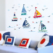 Lovehome Sailboat Seagull Ocean Wall Stickers Vinyl Decal Mural Kid's Room Decor