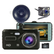 "In Car Camera Recorder Dual Front and Rear HD 1080P 4"" Dash Cam Night Vision with 32G Memory Card"