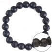 8/10/12Mm Man Natural Black Stone Rock Volcanic Round Bead Stretchy Elastic Bracelets