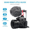 Universal Cardioid Directional Video Condenser Microphone Mini Mic 3.5mm Plug with Anti-Shock Mount for Canon Nikon Sony DSLR ILDC