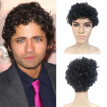 Fashion Man Black Short Cruly Men's Wig Party Wig Handsome Cool Natural Hair Wig