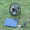 6 Inch Cooling Ventilation Fan USB 3.5W 6V Solar Panel Iron Fan for Phone