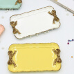 European Style Vintage Bow Decorative Tray Resin Storage Tray For Jewelry Cosmetic Key Food Organizer Holder
