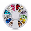 Mixed Color 3D Nail Art Acrylic Tips Wheel Waterdrop DIY Glitter Manicure Decor