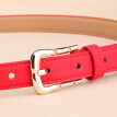 [Same as offline] MONTAGUT Ms. belt simple Korean pin buckle jeans belt red belt thin section R253234013A red