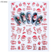 Bluelans 10Pcs/Set 3D Glitter Snowflower Santa Nail Sticker Adhesive Decal Manicure Decor