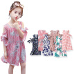 Cute Little Girl Casual Dresses Summer Casual Baby Girls Floral Print Short Sleeve Dress Kids Toddler Pageant Sundress