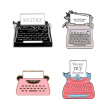 Hot New Product Badge Retro Nostalgic Machine Fax Machine Shape Cartoon Design Alloy Brooch