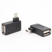 2pcs 90 Degreen Android Phone U Disk Mouse Keyboard OTG Cable Adaptor USB Female To Mini USB Male Converter