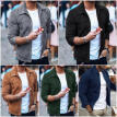Men Winter Suede Zipper Casual Long Sleeve Jacket Coat Slim Outwear Overcoat Top