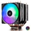 Kyushu Fengshen DEEPCOOL big frost tower RGBCPU cooling fan (with the four brands of motherboard synchronization light effect / 17 kinds of RGB / 6 heat pipe / with grease / eat chicken water)