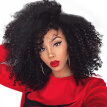 AISI HAIR High Temperature Fiber Long Black Color Afro Kinky Curly Synthetic Hair Wigs for Black Women
