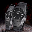 CASIMA fasion black ceramic quartz waterproof couple watch casual wirst watch for men and women watches
