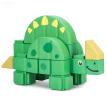 Hao yuan 176301 children's toys large particles of building blocks assembled infant baby early childhood educational toys wooden chaff waterproof environmental material dinosaur adventure