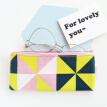 Kinbor canvas pencil bag female models / small fresh stationery bag / student school supplies triangle KBB22473